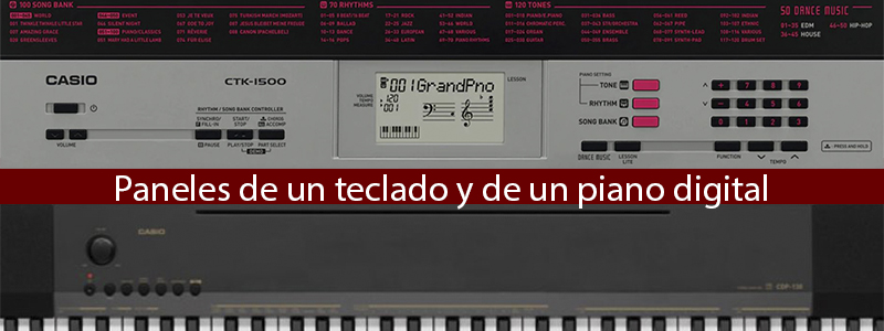 teclado o piano digital (paneles)
