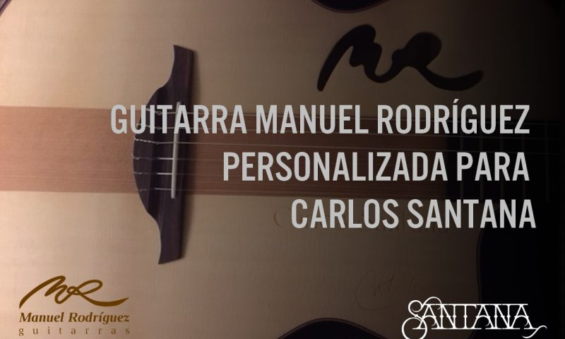 Guitarra Manuel Rodríguez personalizada para Carlos Santana